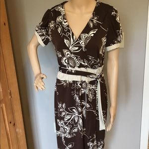 Sandra Darren faux wrap dress